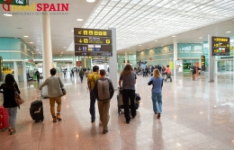 Flight information in El Prat airport